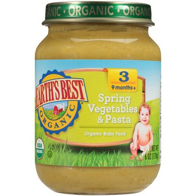 Earth's Best Stage 3 Spring Vegetables & Pasta Baby Food