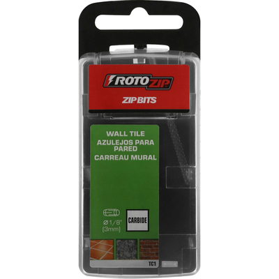RotoZip Zip Bits, Carbide, Wall Tile, 1/8 Inch