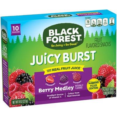 Black Forest Strawberry Blackberry Raspberry Fruit Flavored Snacks 10.0 ea BOX