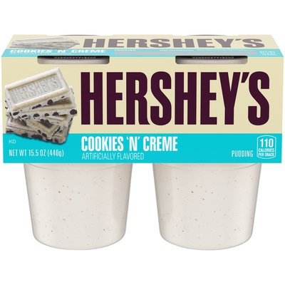 Hershey's Cookies 'N' Crème Ready-to-Eat Pudding Cups Snack