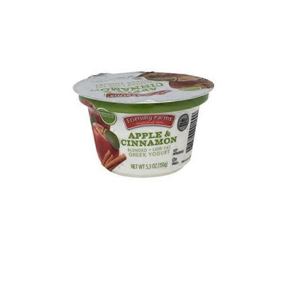Friendly Farms Low-Fat Apple Cinnamon Greek Yogurt