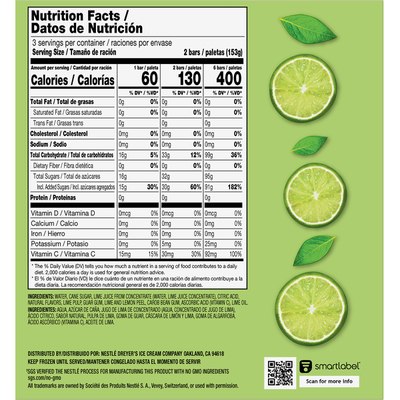 Outshine Lime Fruit Ice Bars