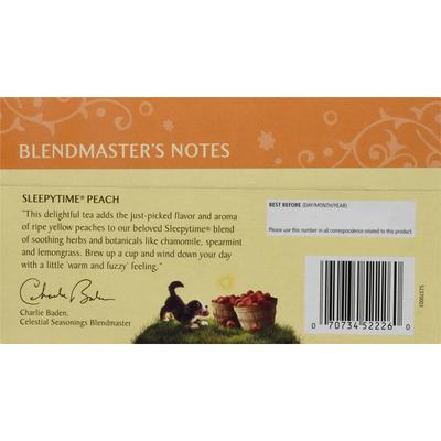 Celestial Seasonings Sleepytime Peach Caffeine Free Herbal Tea Bags