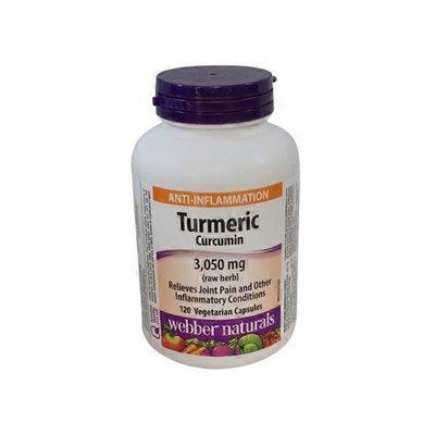 Webber Naturals Turmeric Curcumin 3,050mg 120 vcaps
