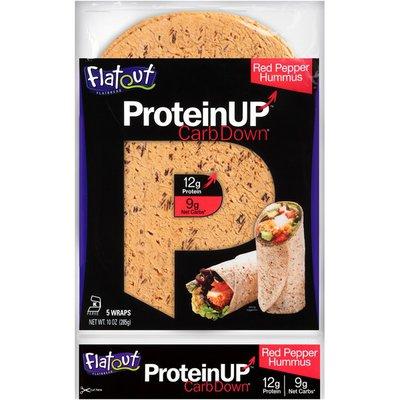 Flatout ProteinUP CarbDown Red Pepper Hummus Flatbread