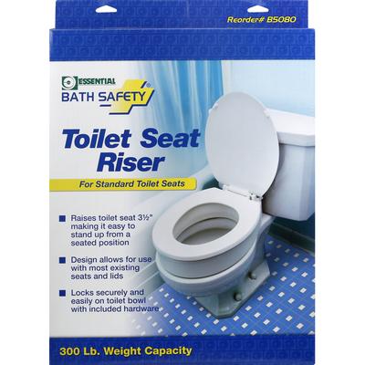 Essential Bath Safety Toilet Seat Riser