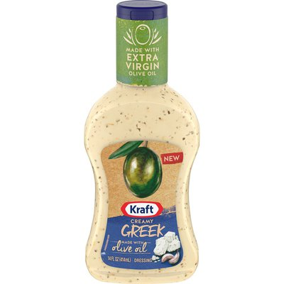 Kraft Heinz Creamy Greek Salad Dressing with Extra Virgin Olive Oil