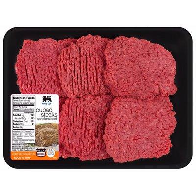 Food Lion Beef Cube Steak Value Pack