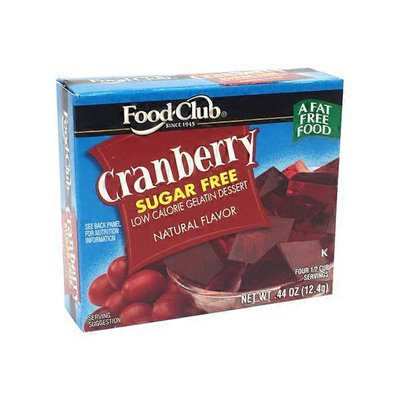 Food Club Sugar Free Cranberry Gelatin