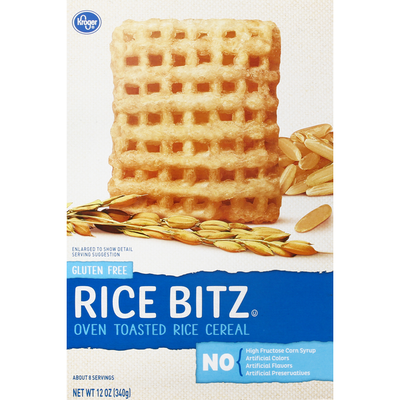 Kroger Rice Cereal, Oven Toasted