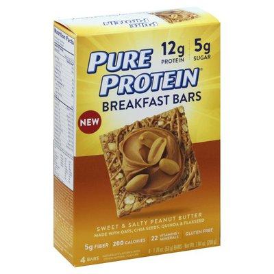 Pure Protein Breakfast Bars, Sweet & Salty Peanut Butter