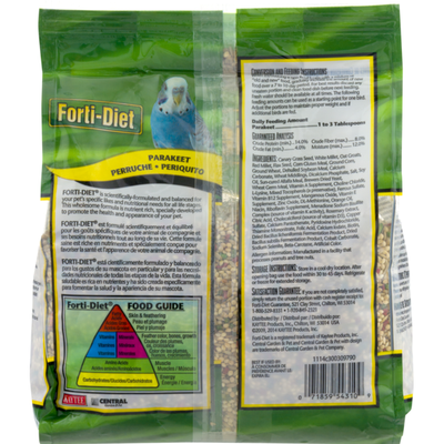 Forti-Diet Parakeet Nutritionally Fortified Food