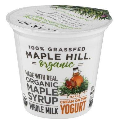 Maple Hill Creamery 100% Grass-Fed Cows Whole Milk Yogurt Maple