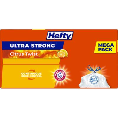 Hefty Ultra Strong Citrus Twist Drawstring Bags