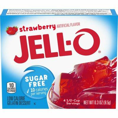 Jell-O Strawberry Sugar Free Gelatin Dessert Mix