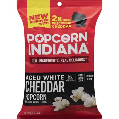 Popcorn Indiana Popcorn, Aged White Cheddar