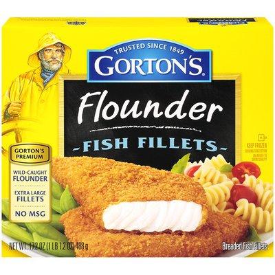 Gorton's Premium Flounder Breaded Fish Fillets