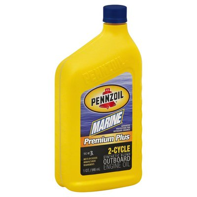 Pennzoil Engine Oil, Outboard, Premium Plus, 2-Cycle