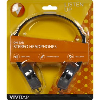 Vivitar Headphones, Stereo, On-Ear