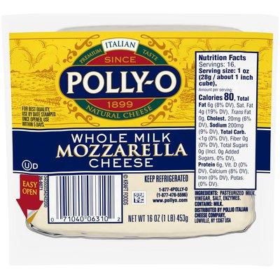 Polly-O Mozzarella Cheese Chunk with Whole Milk