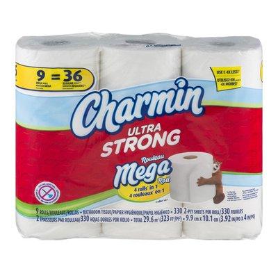 Charmin Ultra Strong Mega Roll Bathroom Tissue - 9 CT
