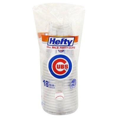 Hefty Party Cups, MLB, Cubs, 18 Ounce