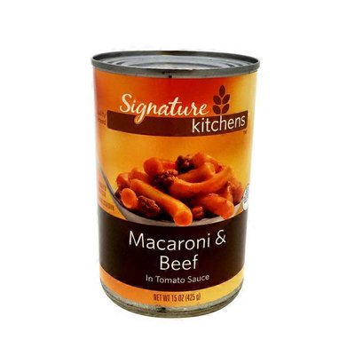 Signature Kitchens Macaroni & Beef in Tomato Sauce