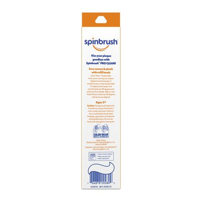 Spinbrush Spinbrush Pro Clean Soft Replacement Toothbrush Head
