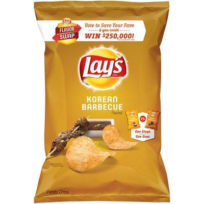 Lay's Lays Korean Barbecue Potato Chips Swap   Plastic Bag