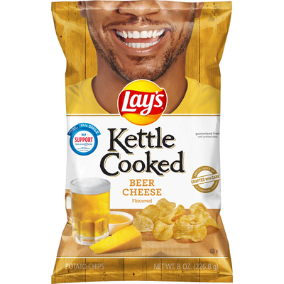 Lay's Potato Chips, Beer Cheese Flavored, Kettle Cooked