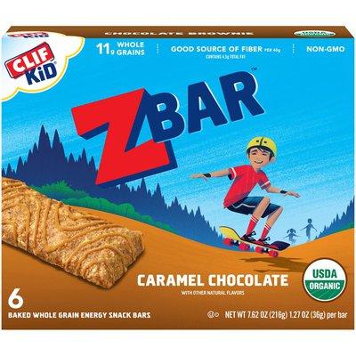 CLIF Kid Organic Caramel Chocolate Baked Whole Grain Energy Snack Bars