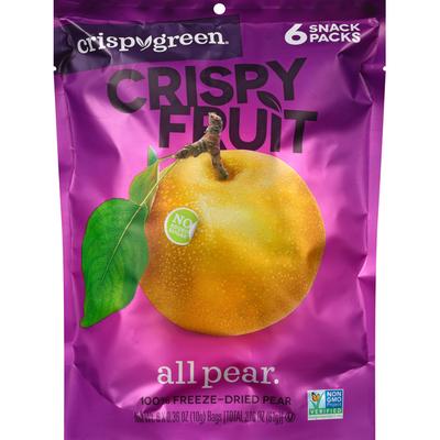 Crispy Green Crispy Fruit, All Pear, 6 Snack Packs