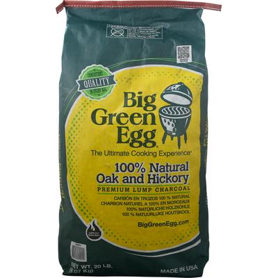 Big Green Egg Lump Charcoal, Premium, 100% Natural Oak and Hickory