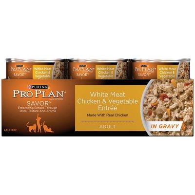 Pro Plan Cat Wet Savor Adult White Meat Chicken & Vegetable Entree in Gravy Cat Food