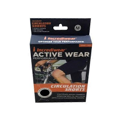 Incrediwear Black Unisex Adult Circulation Shorts