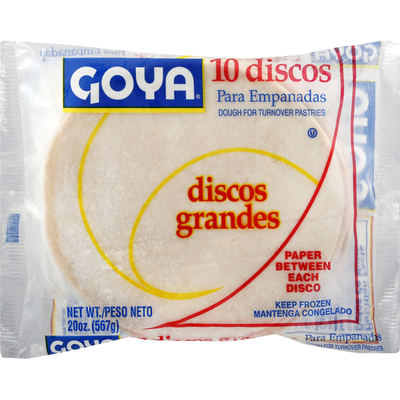Goya Empanada Discos Dough for Turnover Pastries, Large