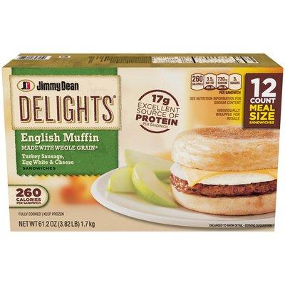 Jimmy Dean Delights® Turkey Sausage, Egg White & Cheese English Muffin Sandwiche