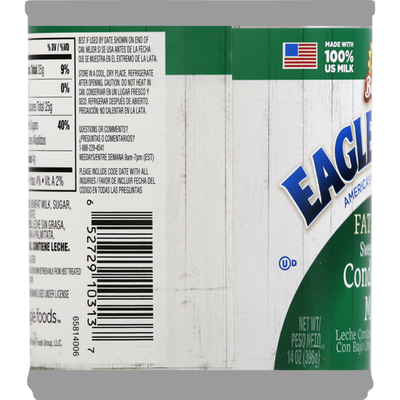 Eagle Brand Condensed Milk, Sweetened, Fat Free, Can
