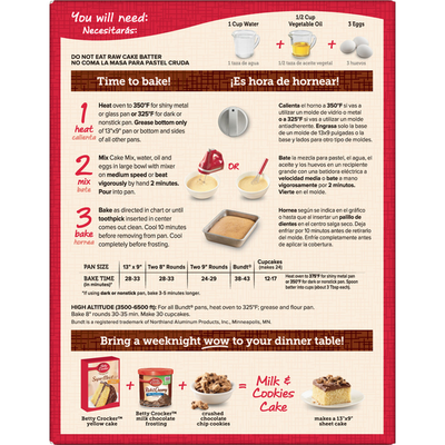 Betty Crocker Super Moist Yellow Cake Mix
