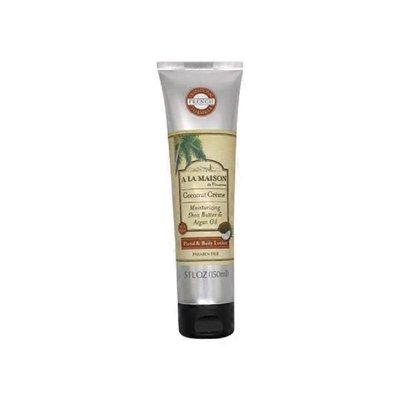 A La Maison de Provence Moisturizing Shea Butter & Argan Oil Hand & Body Lotion, Coconut Creme