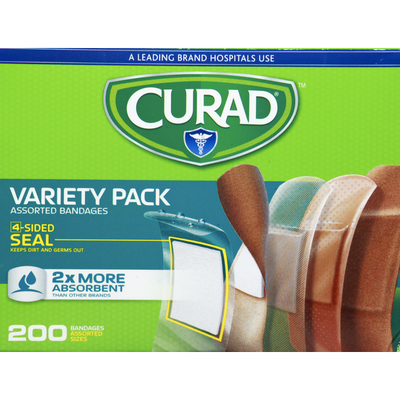 CURAD Bandages, Assorted, Variety Pack