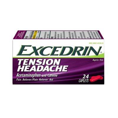 Excedrin Tension Headache Relief Caplets No Aspirin, Tension Headache Relief Caplets No Aspirin
