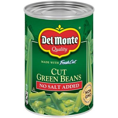 Del Monte Cut Green Beans, No Salt Added