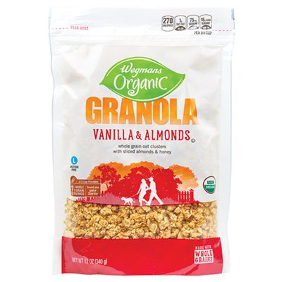 Wegmans Organic Vanilla & Almonds Granola