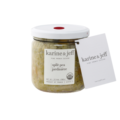 "Karine & Jeff split pea ""jardinière"""