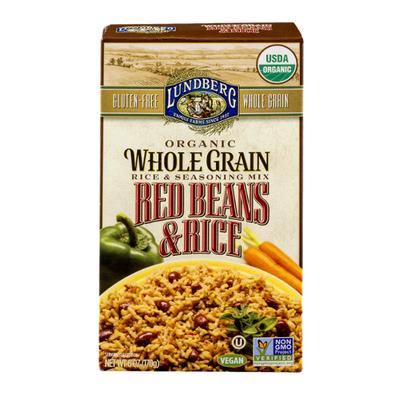 Lundberg Family Farms Organic Whole Grain Red Beans & Rice Rice & Seasoning Mix