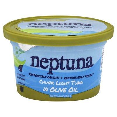 Neptuna Tuna, Chunk Light, in Olive Oil, Tub