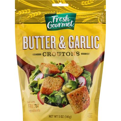 Fresh Gourmet Croutons, Butter & Garlic