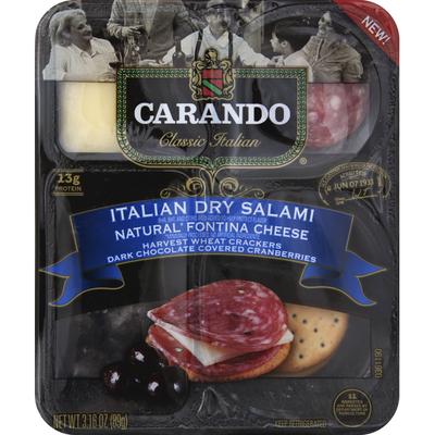 Carando Snack, Italian Dry Salami & Fontina, Classic Italian