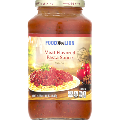 Food Lion Pasta Sauce, Meat Flavored